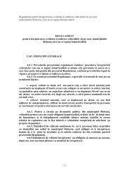 Regulament pentru înregistrarea, evidenŃa şi radierea vehiculelor ...