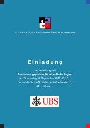 Einladungskarte mit Lageplan - Vereinigung für eine Starke Region ...
