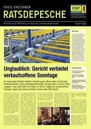 Ratsdepesche 1/2010 - FDP-Fraktion