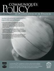 Arriver à la sécurité contraceptive - POLICY Project