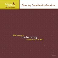 Catering Coordination Services - Dining Services Website