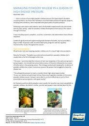 managing powdery mildew in a season of high disease pressure.