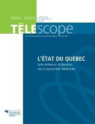 L'ÉTAT DU QUÉBEC - Télescope