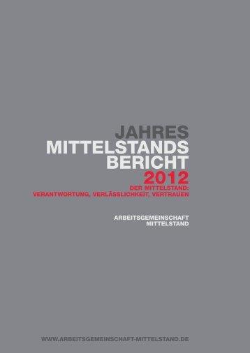 Jahresmittelstandsbericht 2012 - Bundesverband der Deutschen ...