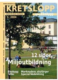 Miljöutbildningen 2004 - Novator