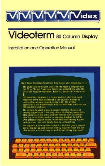 videx videoterm.pdf - Apple IIGS France