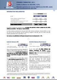 Chiffre d'affaires et résultats... - Groupe M6