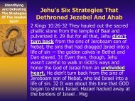 5. Six Biblical Strategies On How To Dethrone ... - Rhm-Net.org