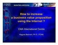 How to increase a business value proposition using the Internet ?