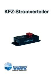 Kfz-Stromverteiler - Funktronic