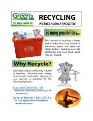 RECYCLING - NC Project Green