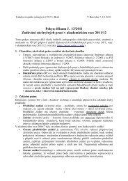 Pokyn děkana č. 13/2011 Zadávání závěrečných prací v ...