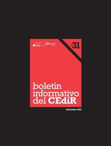 boletín informativo del CEdiR - Agencia de Desarrollo Económico ...