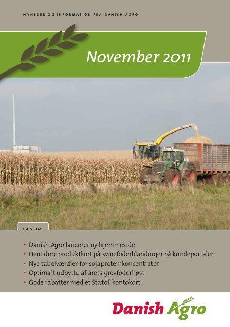 Læs nyhedsbrevet for november måned Danish Agro lancerer ny ...