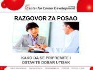 Priprema za intervju - Razvoj karijere