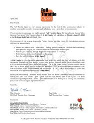 April 2012 Dear Friend, The Full Throttle Open is a ... - A Kid Again