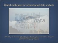 Global challenges for seismological data analysis - EPOS ...