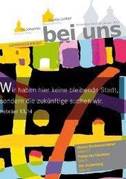Download Gemeindebrief - in St. Johannis