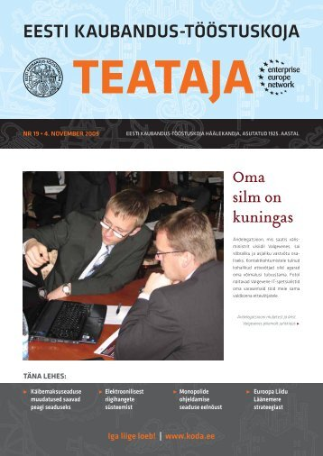 teataja eesti kaubandus-tööstuskoja - Eesti Kaubandus-Tööstuskoda