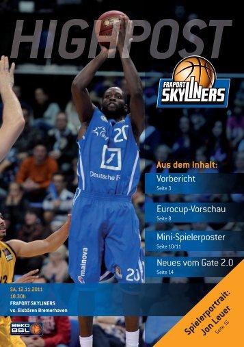 Vorbericht Eurocup-Vorschau Mini-Spielerposter ... - Fraport Skyliners