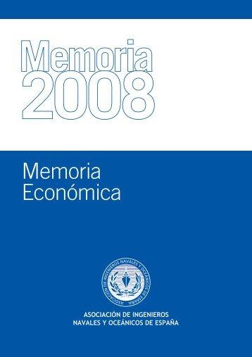 Memoria Economica AINE 2008