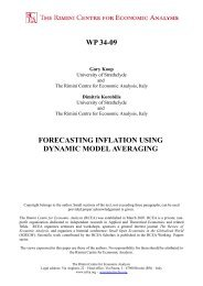 forecasting inflation using dynamic model averaging - The Rimini ...