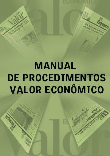 Manual de Produção - VALOR Inserção Digital - Valor Econômico