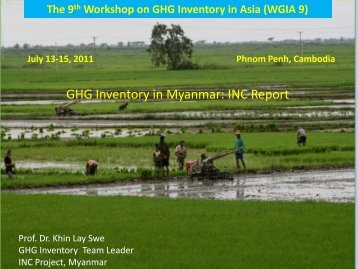 GHG Inventory in Myanmar: INC Report - GIO Greenhouse Gas ...