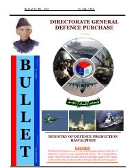 bulletin delivery notice - Directorate General Defence Purchase