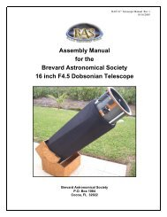 BAS 16 in Telescope Assembly Manual - the Brevard Astronomical ...