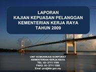 analisis: maklumat responden - Kementerian Kerja Raya Malaysia