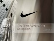 The Nike Advertising Campaign - MyWeb at WIT