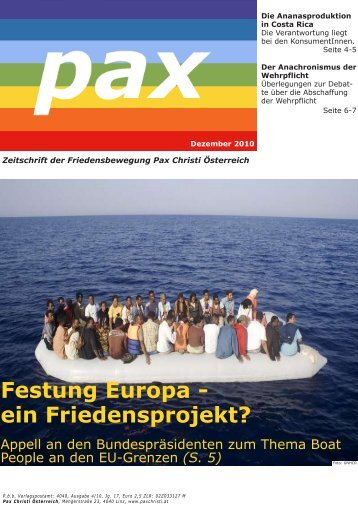 Festung Europa - ein Friedensprojekt?