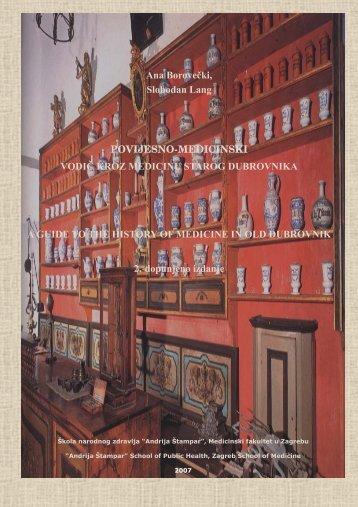 Povijesno-medicinski vodič kroz medicinu starog Dubrovnika