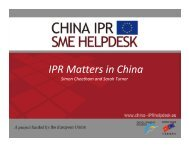 IPR_Matters_in_China.. - China IPR SME Helpdesk