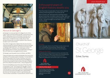 St George's Church, Esher, Surrey - The Churches Conservation Trust