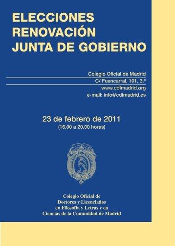 calendario electoral - Colegio de Doctores y Licenciados
