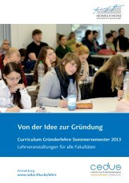 Von der Idee zur Gründung - Center for Entrepreneurship - Heinrich ...