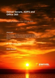 Swivel Secure, ADFS and Office 365