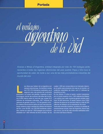 El Milagro Argentino de la vid - O. Fournier