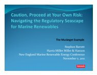 Navigating the Regulatory Seascape for Marine Renewables - HMMH