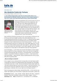 Die hässliche Fratze der Fortuna - SC Fortuna Köln