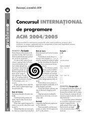 Concursul INTERNAÅ¢IONAL ACM 2004/2005 - GInfo