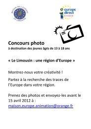 Concours photo - (CRIJ) Limousin