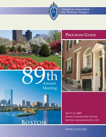 Program Guide - American Association for Thoracic Surgery