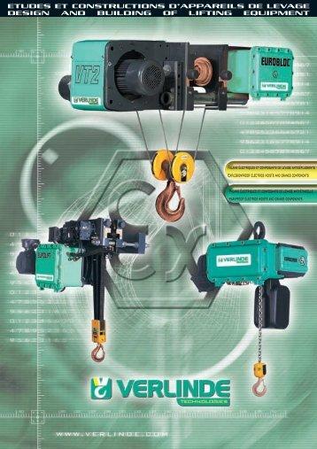 Palans électriques et composants de levage ... - IndustriasVeca