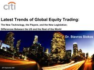 Latest Trends of Global Equity Trading:
