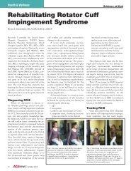 Rehabilitating Rotator Cuff Impingement Syndrome