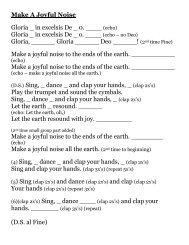 Make A Joyful Noise Gloria _ in excelsis De _ 0. ____ (echo) Gloria ...