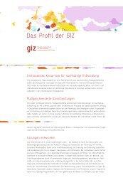 Das Profil der GIZ